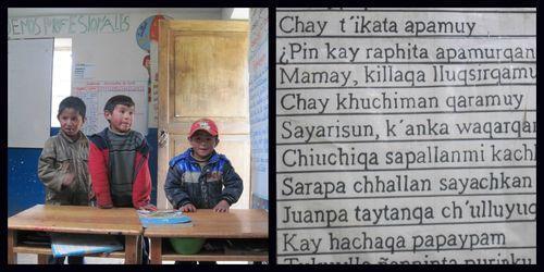 Bilinguismo en los andes del Perú