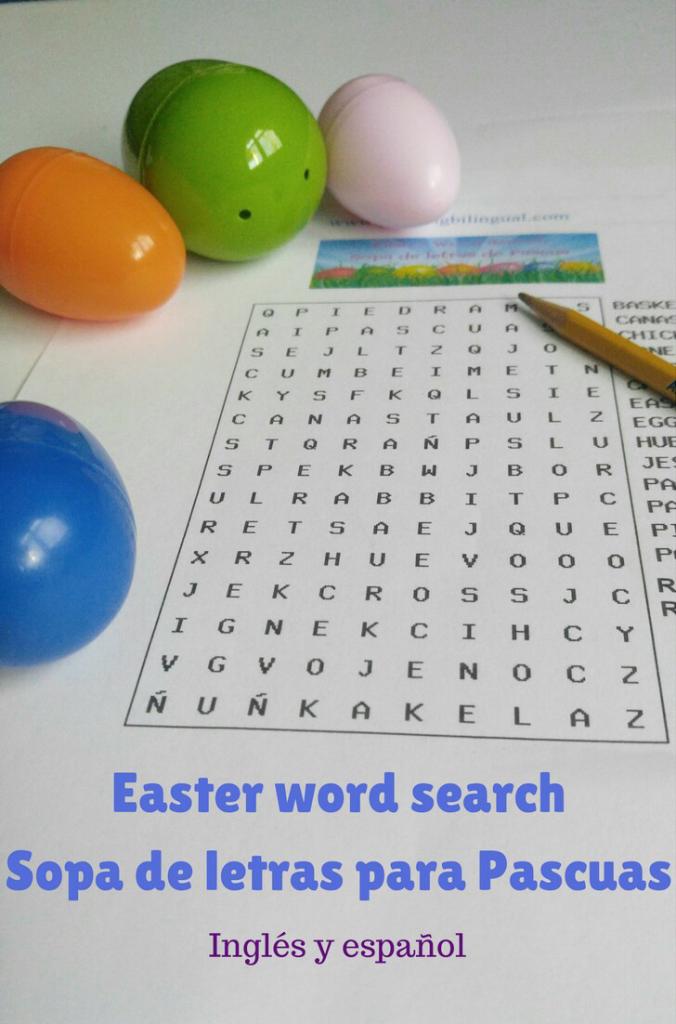 Sopa de letras Pascuas Easter word search