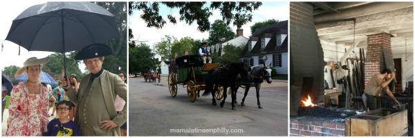 Por las calles de Colonial Williamsburg en Virginia