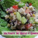 Solterito peruano de queso y quinoa
