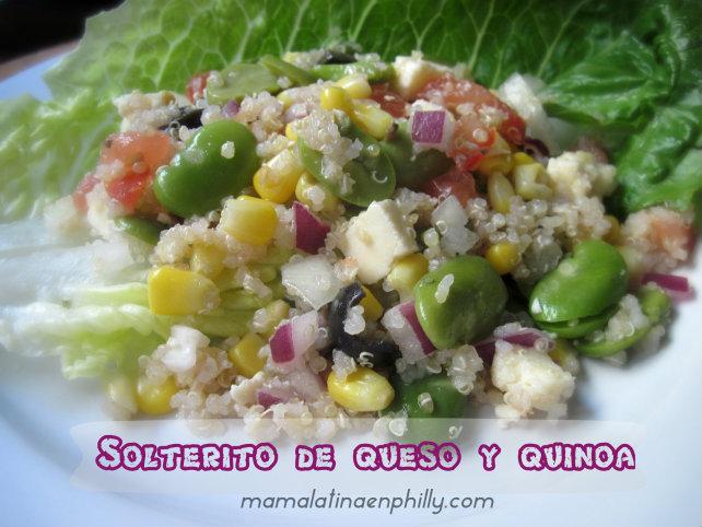 Solterito de queso y quinoa