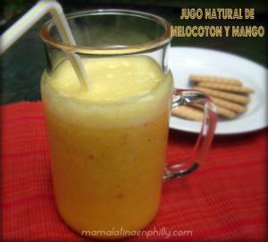 Jugo de melocotón y mango