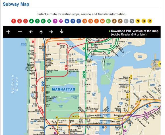 Mapa del subway NY