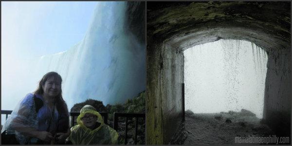 Journey behind the walls en el parque del Niagara, Canada. Un viaje en familia.
