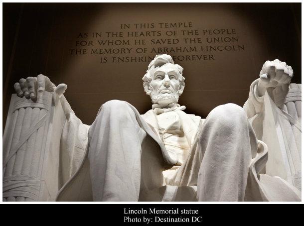 La estatua de Lincoln en Washington DC. Cómo llego a Washington desde Philadelphia