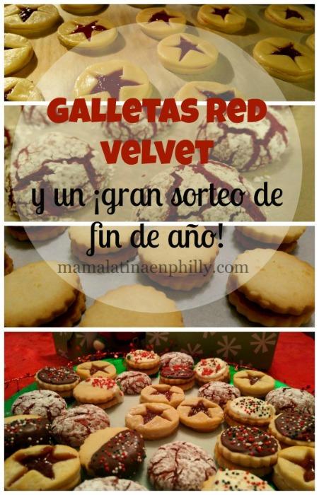 Estas galletas velvet sn muy fáciles de hacer y salen deliciosas. La receta en el blog y un gran sorteo de fin de año!