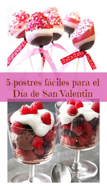 5 postres faciles para el Dia de San Valentin