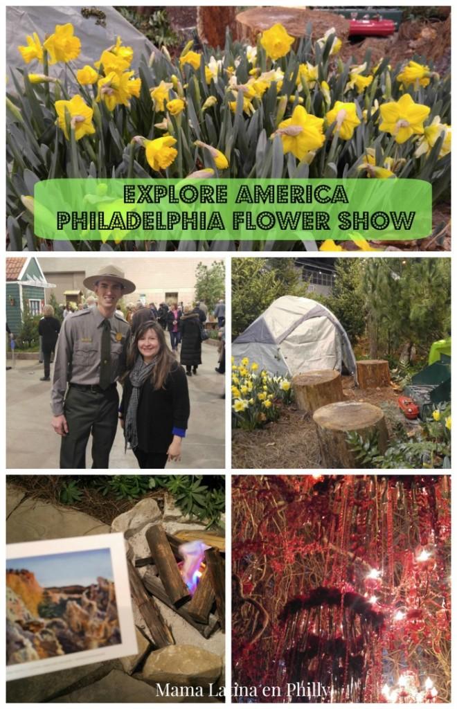 Toda la belleza e historia de los Parques Nacionales del pais, en el Flower Show de Philadelphia con el tema Explore America.