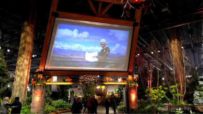 Big TImber Lodge, la entrada clásica a los Parques Nacionales durante el Flower Show de Philadelphia con el tema Explore America.