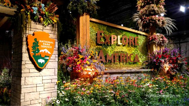 Explore America. Una visita a los parques nacionales en el Flower Show.