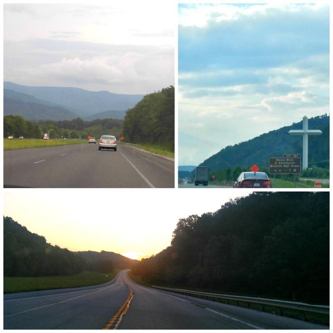 viaje por carretera hacia Mammoth cave, Kentucky
