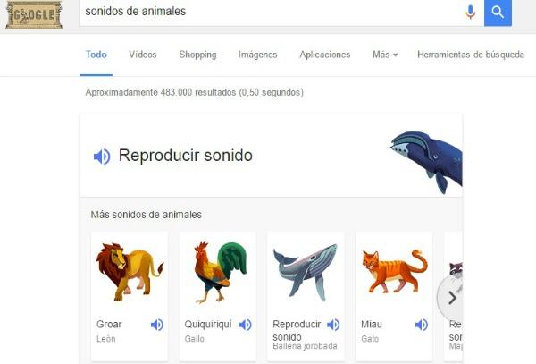 sonidos de los animales google espanol