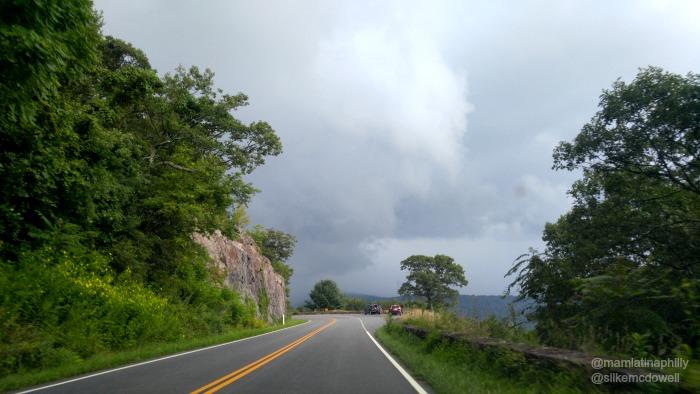 Una vista impresionante de Shenandoah Valley desde Skyline drive, Virginia