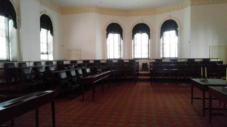 Congress Hall. el Congreso en el centro histórico de Philadephia