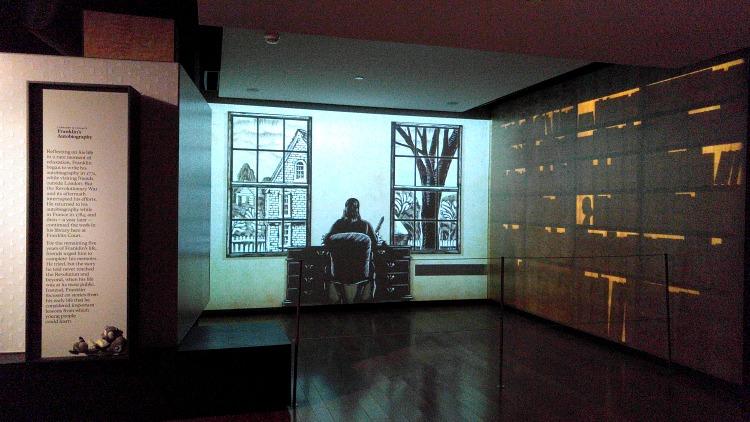 Museo de Benjamin Franklin en el centro histórico de Philadelphia