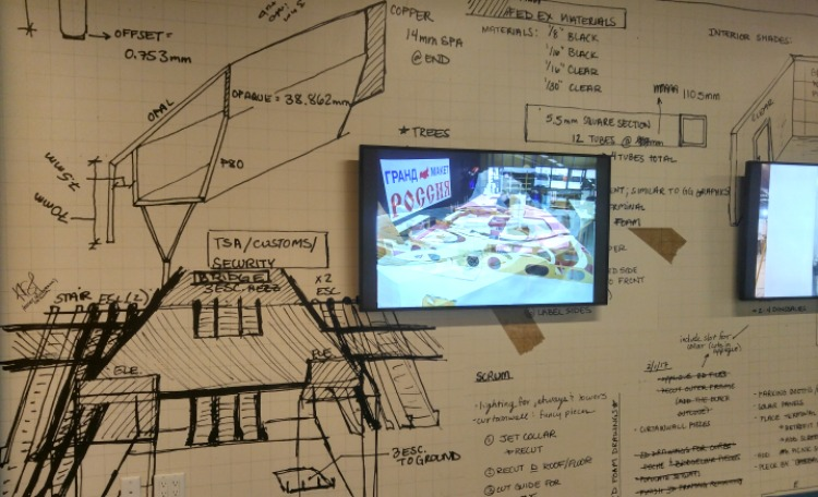 El esquema y datos de construccion de Gulliver's Gate en New York