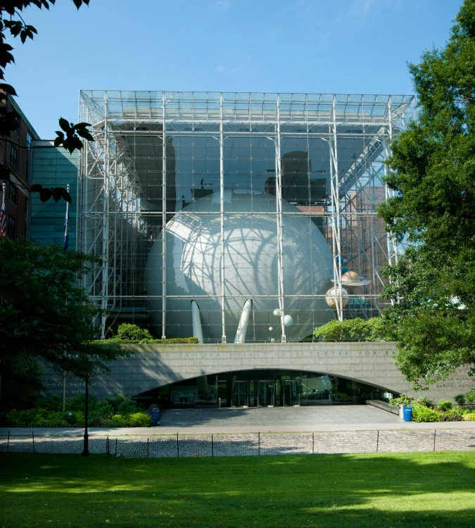 Rose Center for Earth and Space en el Museo Americano de Historia Natural en New York