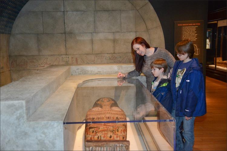Tumba egipcia en el AMerican Museum of Naural History, New York