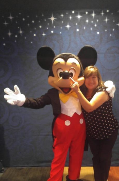 Con el ratón mas lindo del mundo, Mickey Mouse en Philadelphia