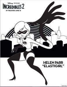 Pagina para colorear Helen Parr