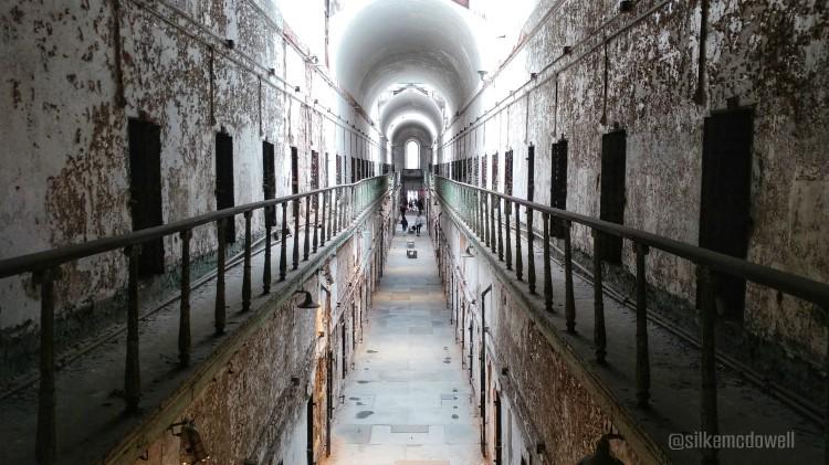 Vista del segundo piso de The Eastern State Penitentiary en Filadelfia