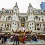 La Navidad en el City Hall Courtyard en Filadelfia Philadelphia