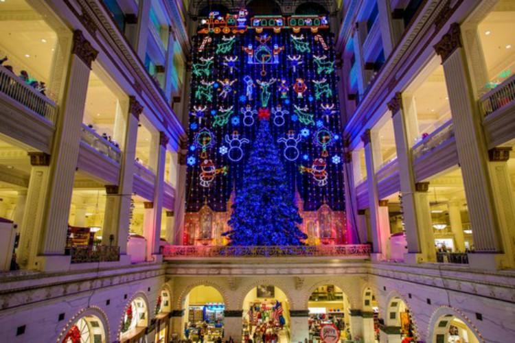 Macy's Light Show, show de luces en Macy's de Filadelfia