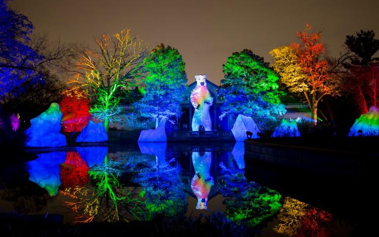 Luminature, el show de luces en el zoologico de Philadelphia